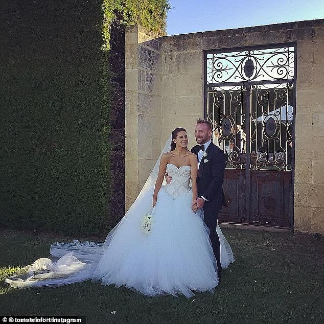 Hashtagged: The couple encouraged guests to mark the momentous occasion by sharing photos and clips from the day on social media using the hashtag #MeetThePharks
