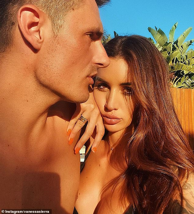 Sad story: He was once considered a potential world No. 1, but now fallen tennis star Bernard Tomic (left) is reduced to supporting his girlfriend Vanessa Sierra's (right) OnlyFans account