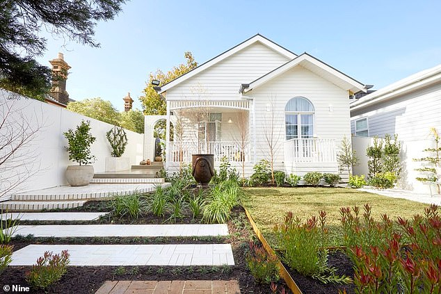 Inviting: The facade of their pad is whimsical and offers a stunning landscaped garden and a small verandah