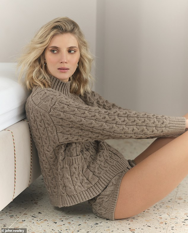 Something for the weekend? Chic knitted knickers for Sunday chilling Jumper, £29.99, and knickers, £19.99, zara.com. Jewellery throughout, model's own