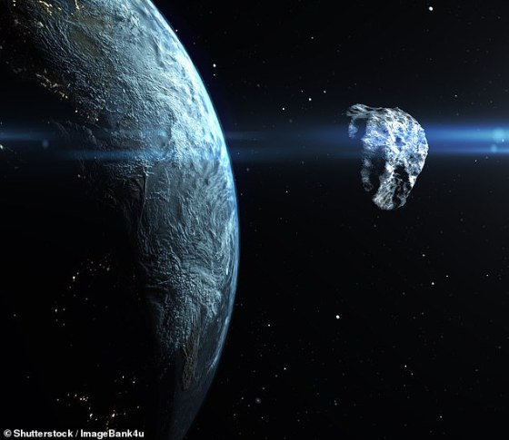 NEOs are an asteroid or comet whose orbit introduces it into or through a zone between approximately 91 million and 121 miles (195 million km) from the Sun, meaning it can pass about 50 million kilometers from Earth's orbit (stock image)