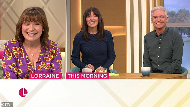 Over to you: The broadcasters appeared in great spirits as they introduced the show following Lorraine Kelly's eponymous show
