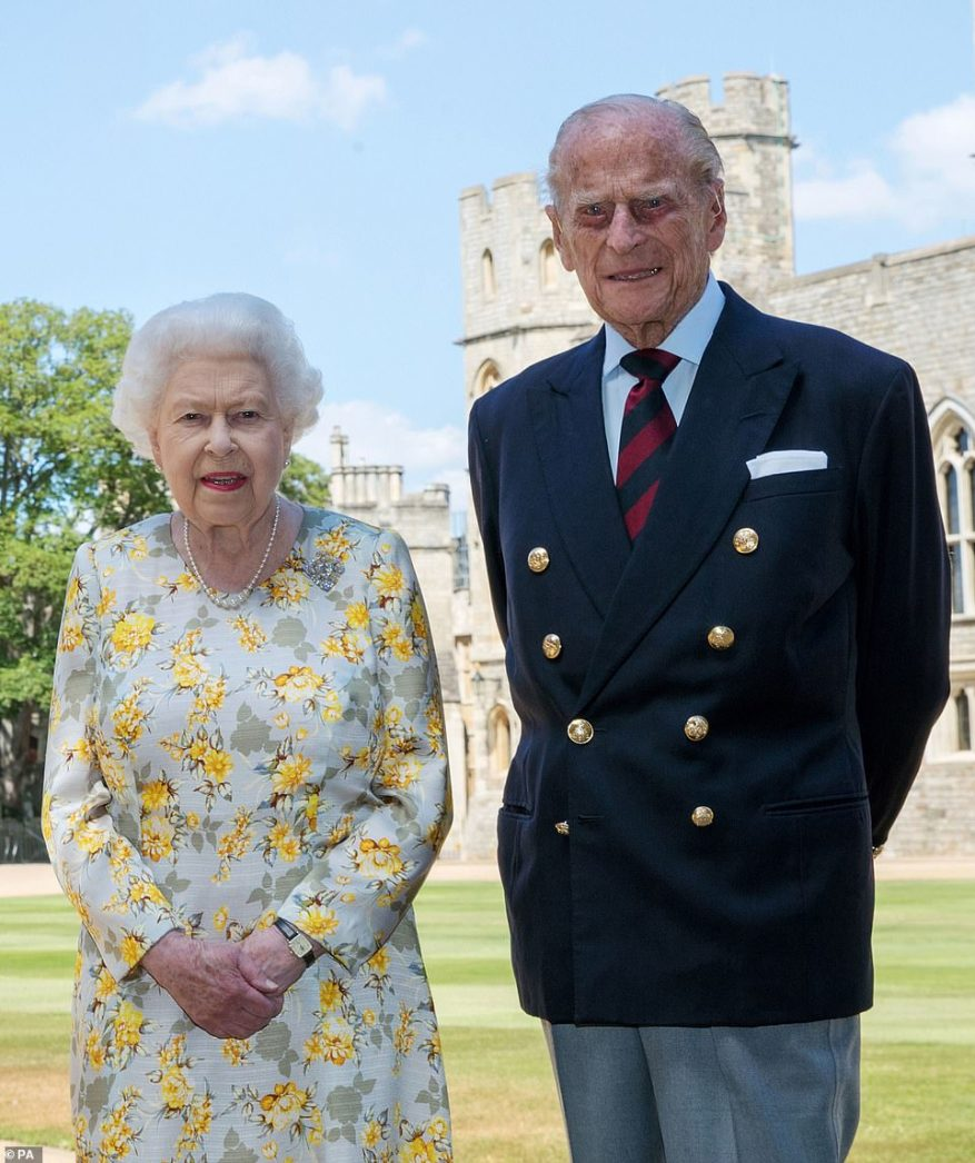 The last official photograph shared of the Queen and the Duke of Edinburgh was released on June 1 earlier this year, also taken in Windsor Castle