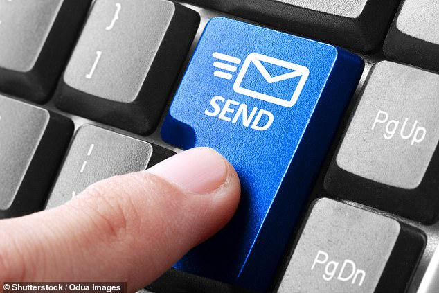 Everyone has done it - sending a quick email to say 'thanks' or 'no problem' to a work colleague. Research claims if we all cut back on just one 'thank you' email per day could save over 16,000 tonnes of carbon a year, according to a study (stock)