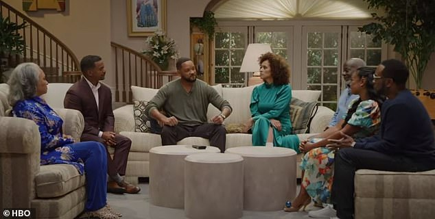 Dearly departed: The reunion included a tribute to James Avery who died of complications from an open heart surgery in 2013 at the age of just 68