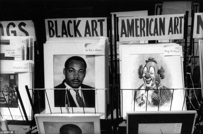 Godlis said this image taken from art bins in Times Square in 1980 is his favorite photograph in the book. He said it represents 'the essence of the kind of picture I like to take. I always want it to be just on the edge of unacceptable. While not his intention, Godlis's cache of photographs inadvertently tell a story about American society