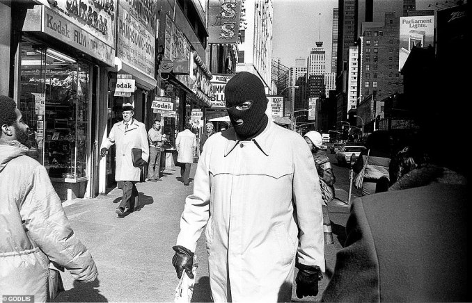'Street photography,' Godlis says, 'is making something out of nothing.' He doesn't remember taking this curious photo, nor does he know the backstory behind it. But as Luc Sante said it points to a time one could walk through 'Times Square wearing a balaclava without getting shot by a SWAT team'