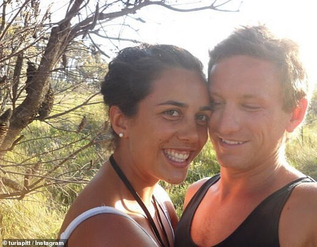 The couple have been together since 2009 after meeting in high school (pictured together before Ms Pitt sufferedexcruciating burns to 65 per cent of her body)