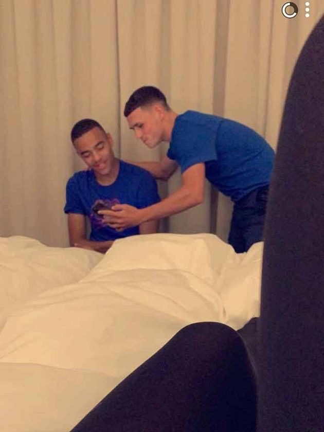 Greenwood was sent home from England duty in disgrace after making his senior debut. The United striker and Phil Foden (right) were caught inviting girls to the team hotel in Iceland