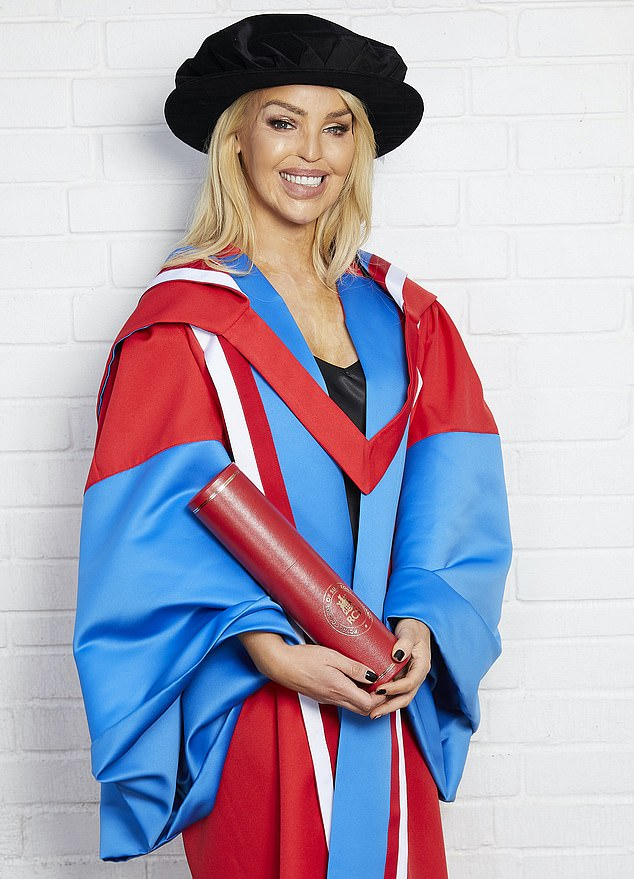 Congratulations:Katie Piper had received a Honorary Doctorate Award of the Royal College of Surgeons in Ireland to mark her achievements as a healthcare leader