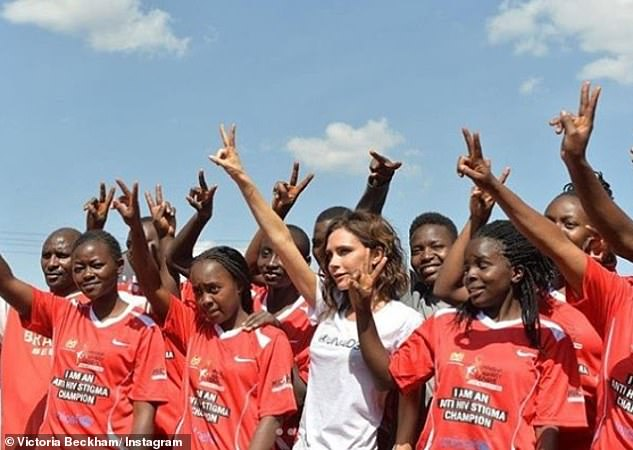 important mission: The star,revealed she was proud to help raise awareness of the fight towards an AIDS free future