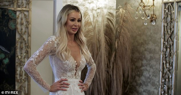 Bride-to-be: Olivia's eight-episode series follows the reality star and her Blackburn Rovers footballer fiancé Bradley Dack, as they plan their wedding and buy their first home in Cheshire