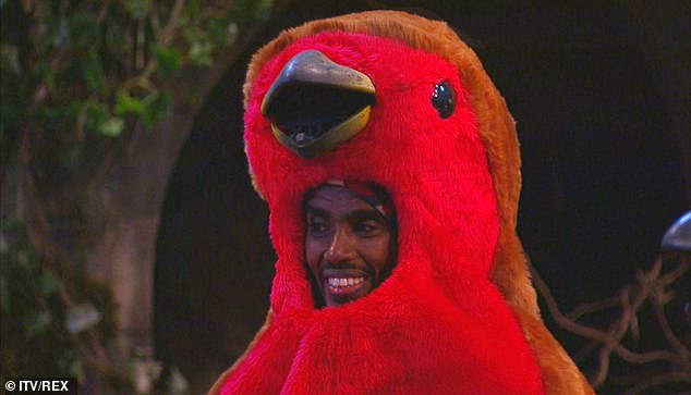 Bad cluck:It was a busy day for Mo as earlier in the show he took part in the Castle Coin Challenge alongside Victoria