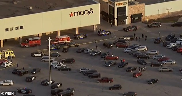 The shooting happened shortly before 3pm at the Wauwatosa shopping mall