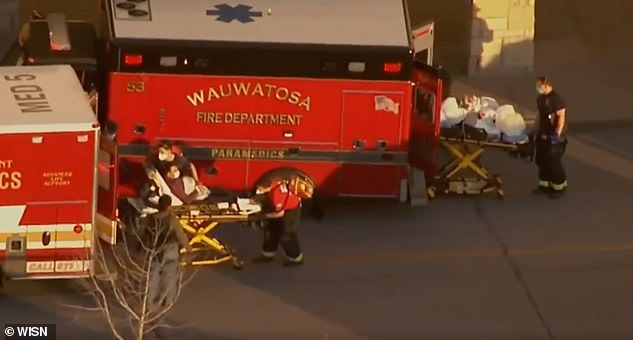 At least three people were seen being loaded into Wauwatosa Fire Department ambulances