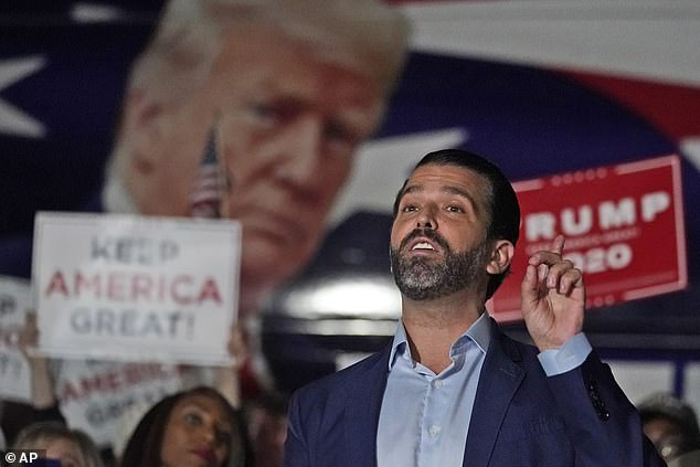 Donald Trump Jr. has tested positive for the coronavirus and is in isolation at his cabin in upstate New York