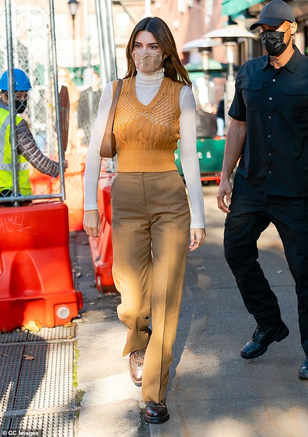 Outfit change:The KUWTK star, 25, changed out of her earlier attire and into an ensemble that conjured up the feelings of fall