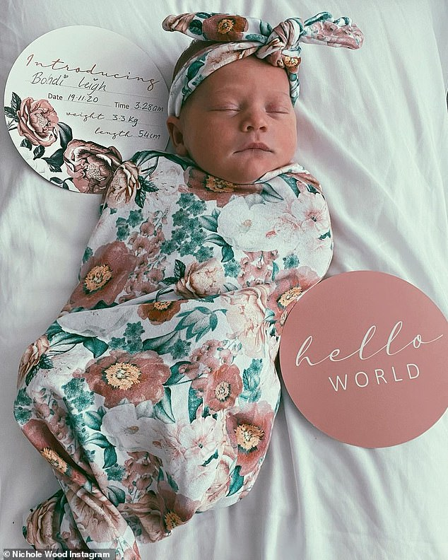 She's here! Former Bachelor star Nichole Wood welcomed her first child, a baby girl, on Thursday. And on Saturday, she shared the first pictures of her adorable baby girl, revealing that her name is Bodhi Leigh Yard