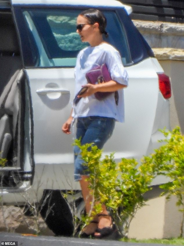 Natalie Portman cuts casual figure as she heads to Fox Studios ahead of filming Marvel's Thor