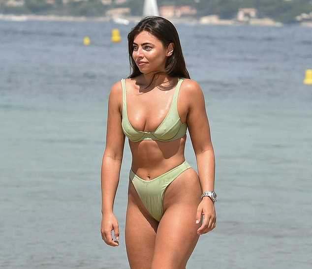 Wow!Francesca Allen was flaunting both her best assets on Thursday as she soaked up the sun in a tiny bikini during her holiday to Turkey
