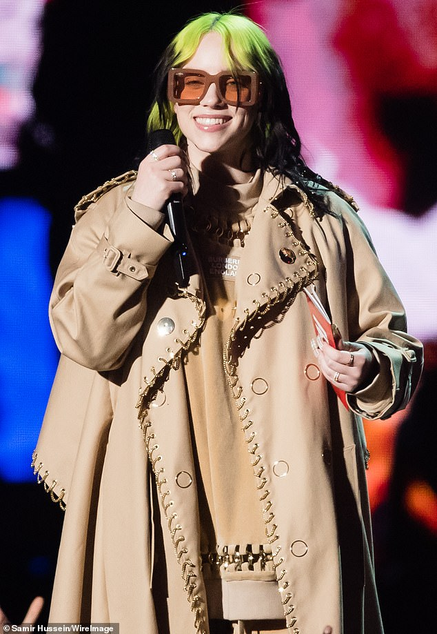 Youngest:Billie, who swept four prizes at the Grammy Awards in January, is the youngest artist to record a Bond theme