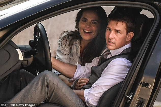 Delays: In October, it was reported 150 extras were informed they were not to come in to shoot scenes that were on the filming schedule (Tom and co-star Hayley pictured in October)