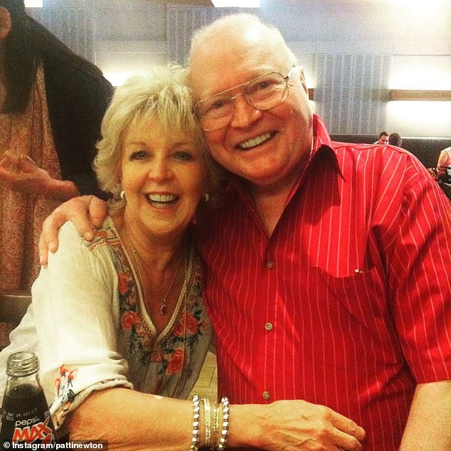 Cheer:Bert Newton sparked fears for his health after he was pictured in hospital on Thursday. But his wife Patti, 75, says Bert, 82, is doing well and undergoing tests