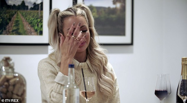 Moving: Olivia Attwood broke down in tears as she thanked fiance Bradley Dack's mum for accepting her in a clip from her show Olivia Meets Her Match, which will air on Sunday