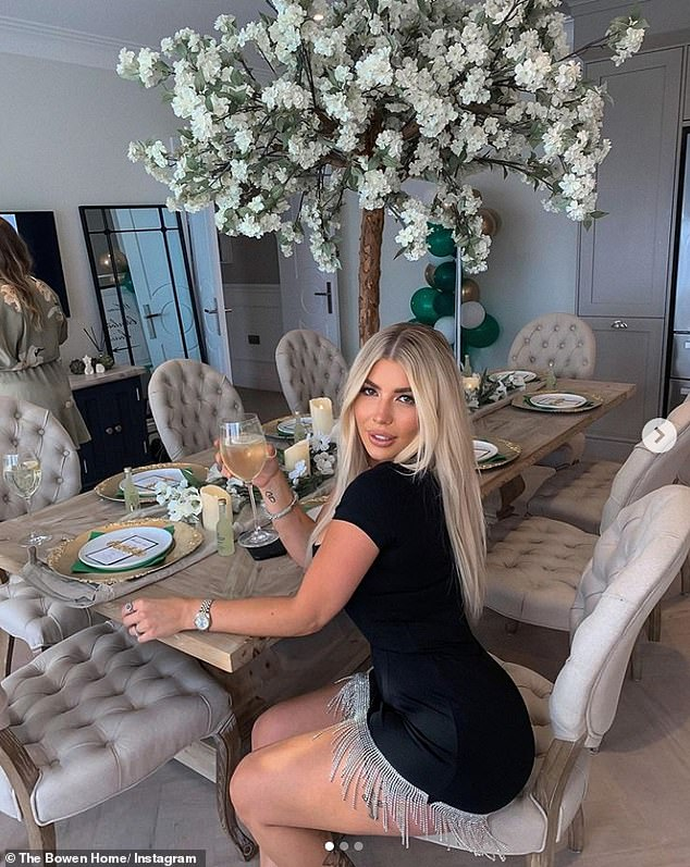 Posing at home: The couple regularly shares snaps of themselves posing in their new home