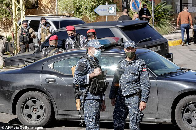 Judge Fadi Akiki, a government representative at the military court, held a meeting with security officials after inspecting the detention facility and site of the car crash