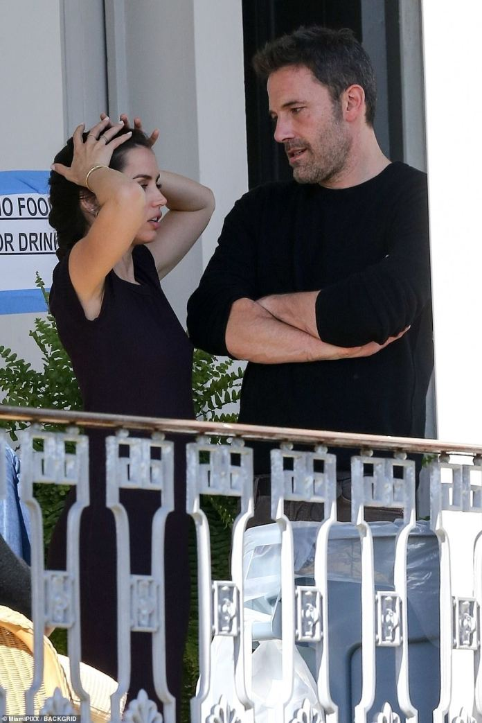 In the past: Ana and Ben were last seen publicly on October 15 in Los Angeles when he greeted her with a smile
