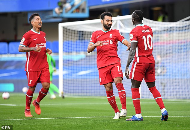 Led by Roberto Firmino (L), Mo Salah (C) and Sadio Mane (R), the Reds have been thrilling
