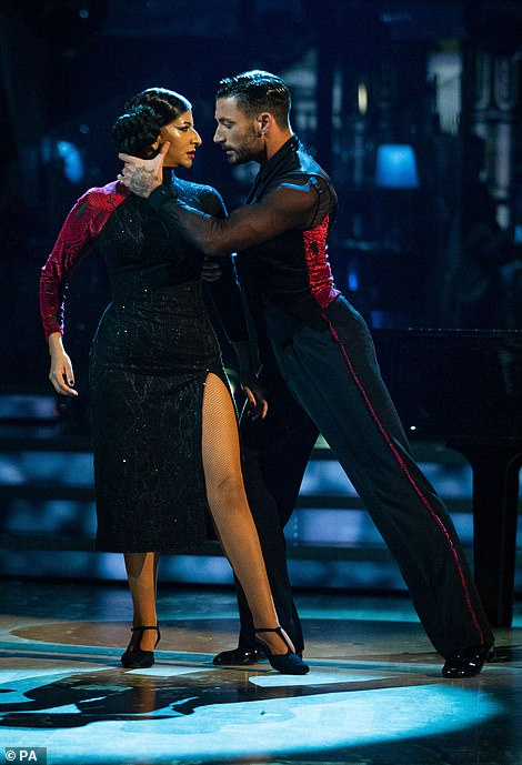 Intense: Closing the show were Ranvir Singh and Giovanni Pernice - who have been sparking rumours of a romance, but denying this all week
