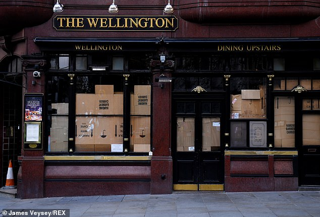 Pubs have been boarded up throughout November and the Prime Minister hopes to give them a Christmas boost
