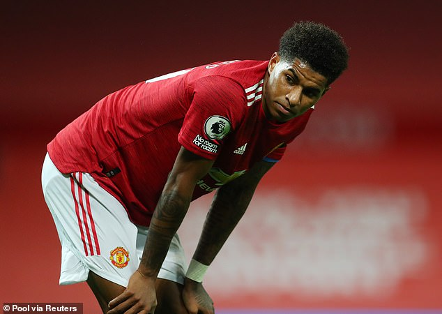 A quiet night for Marcus Rashford, however the 23-year-old went close with a first half effort