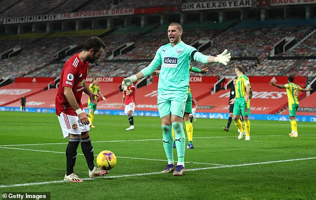 Sam Johnstone was unlucky to see his penalty save from Bruno Fernandes lead to a retake