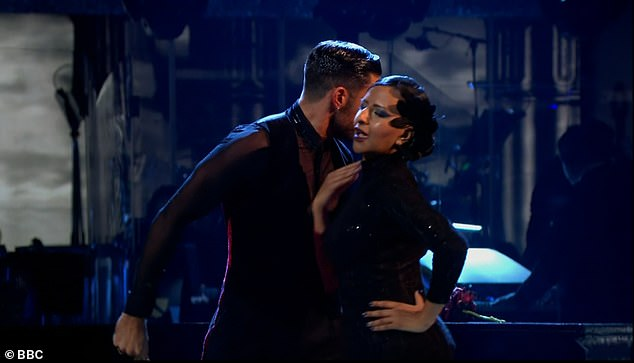 Close:Giovanni and Ranvir had previously teased that the sexy tango is all 'about chemistry' when speaking in a training video earlier this week