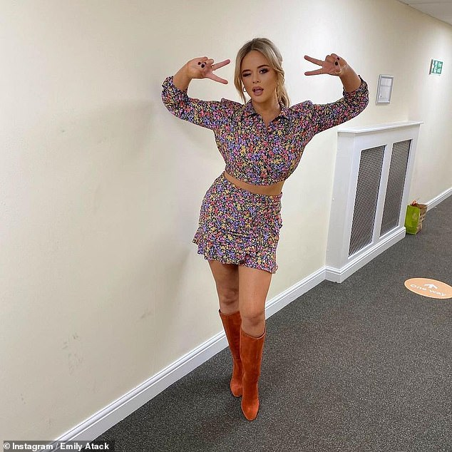 Cheeky: The actress and comedian, 30, explained how the unusual arrangement started after she met a man in a pub who turned out to have an 'open relationship' with his wife