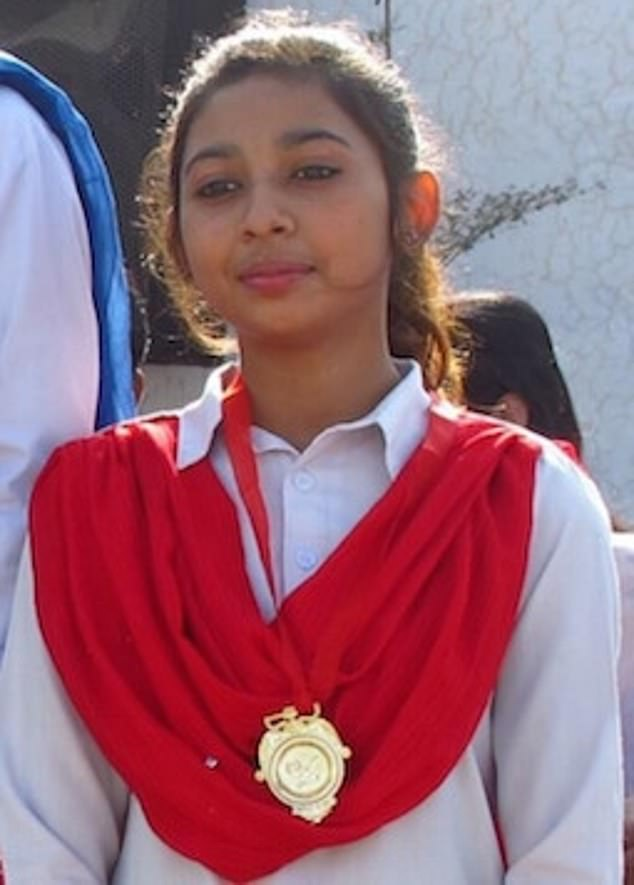Hiding: Maira Shahbaz fears for her life. The 14-year-old is in hiding after being accused of apostasy for breaking off the marriage -an offence punishable by death in Islam