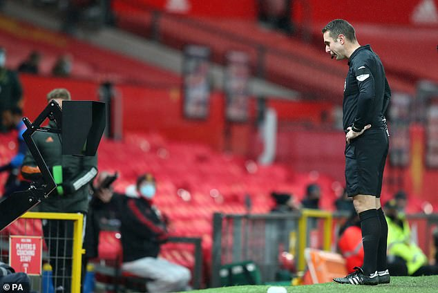 Referee David Coote reversed his on-field decision after consulting with the pitchside monitor