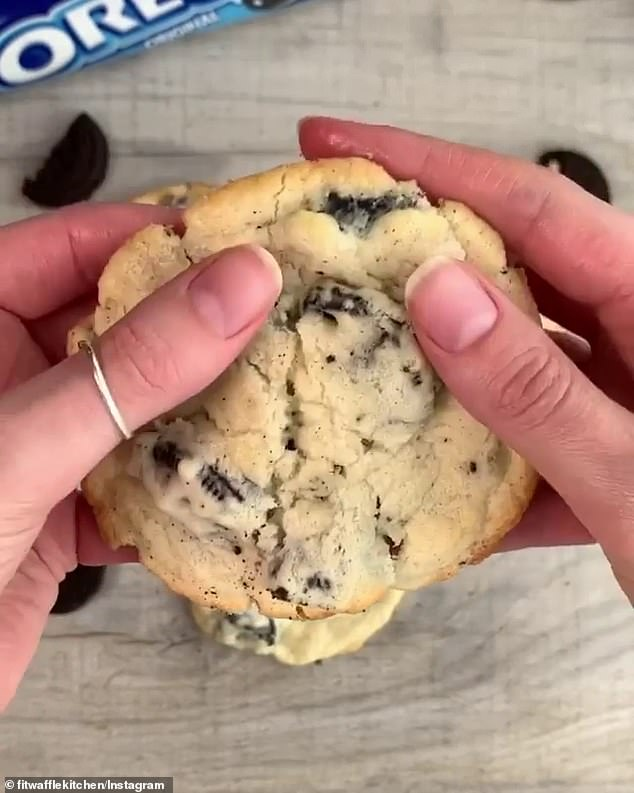Eloise Head's five-ingredient Oreo cheesecake cookies, which can be made by bakers of all skill levels - even beginners