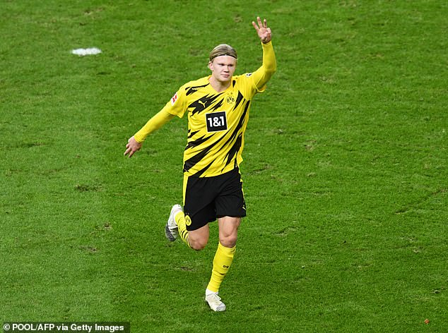 Erling Haaland scored four goals in an inspired second-half display for Borussia Dortmund