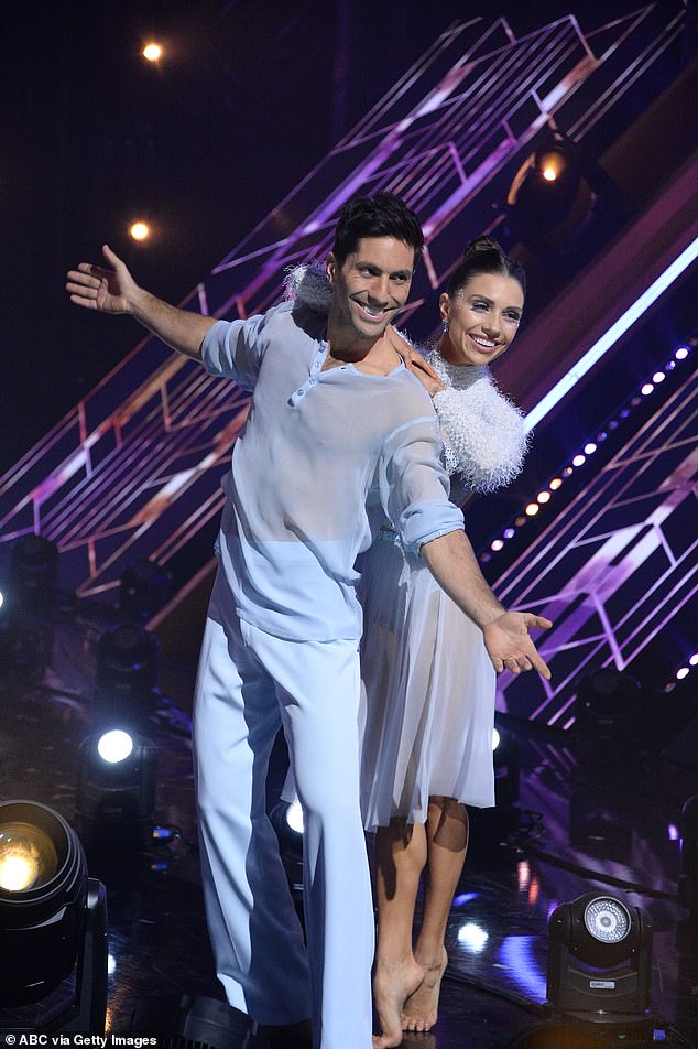 Finalists:In addition to Bristowe, the DWTS finalists are Justina Machadao, Nelly and Nev Schulman; Nev and Jenna Johnson pictured on November 16