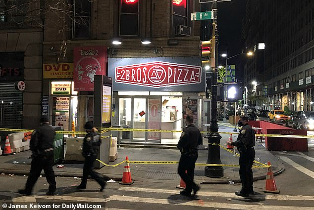 Man is stabbed to death outside dollar slice pizza takeout in Midtown Manhattan