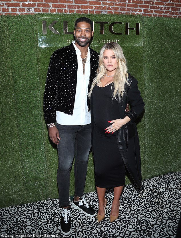 Travel: Khloe Kardashian, 36, and Tristan Thompson, 29, would split time between Boston and Los Angeles, US Weekly sources say;  pictured together on February 17, 2018 in LA