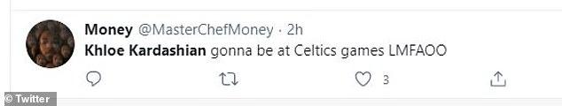 Вы идете?  «Вы переезжаете в Бостон, @khloekardashian», - спросил один фанат KUWTK, в то время как другой написал: «@khloekardashian будет на играх Celtics LMFAOO».