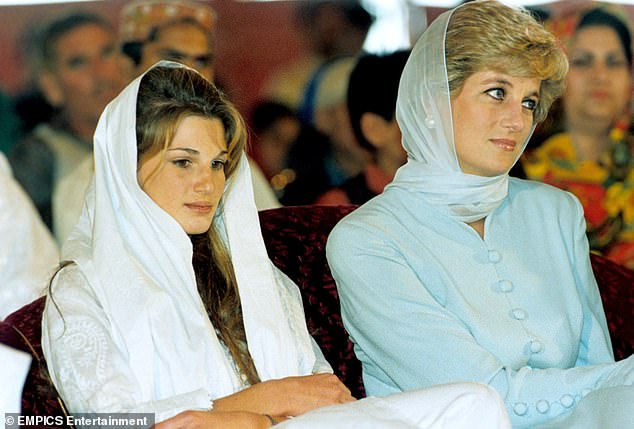 During their fling, which ended in the summer of 1997, Diana - who is said to have considered him the love of her life - met the surgeon's family during a 1996 visit to Pakistan (pictured) and even considered converting to Islam