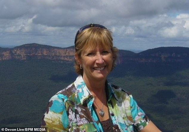 Sue Reader, 59, from Ogwell, Devon, believes she caught the virus during a trip to arrange travel documents from the Chinese Visa Application Centre in London on December 16