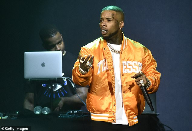 Charge: Megan alleges being shot twice in the foot by rapper Tory Lanez this summer at a house party in the Hollywood Hills, charges to which he pleaded not guilty in a hearing