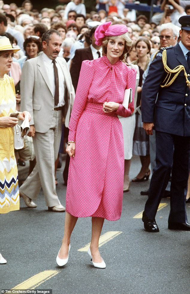 In the sixth episode of the series, the courtier is shown coldly telling she must be separated from a baby Prince William for two weeks. Pictured,Princess Diana after visiting Freemantle Hospital, near Perth, Australia
